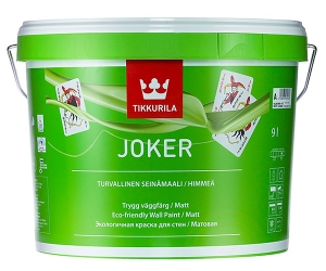 Tikkurila Joker / Тиккурила Джокер матовая, экологичная краска интерьерная
